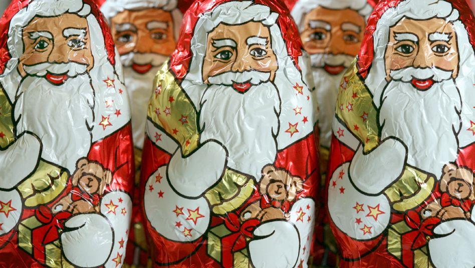 Schoko-Weihnachtsmänner: Kunden-Beschwerde auf Facebook
