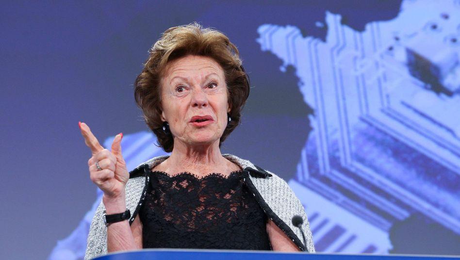 EU-Kommissarin Neelie Kroes: Wer mehr bezahlen will, soll das auch dürfen