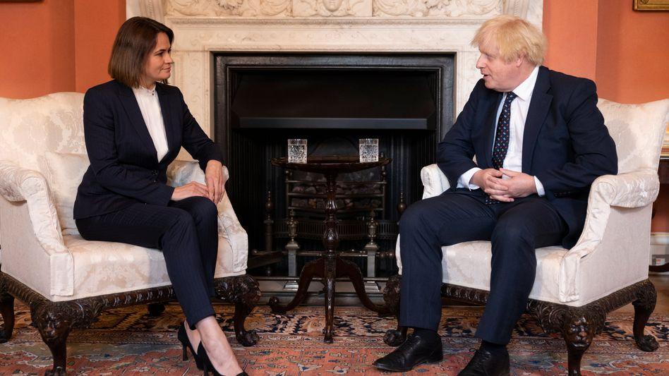 Tichanowskaja und Johnson in London: Der britische Premier verurteilte die Verfolgung prodemokratischer Akteure durch Machthaber Lukaschenko
