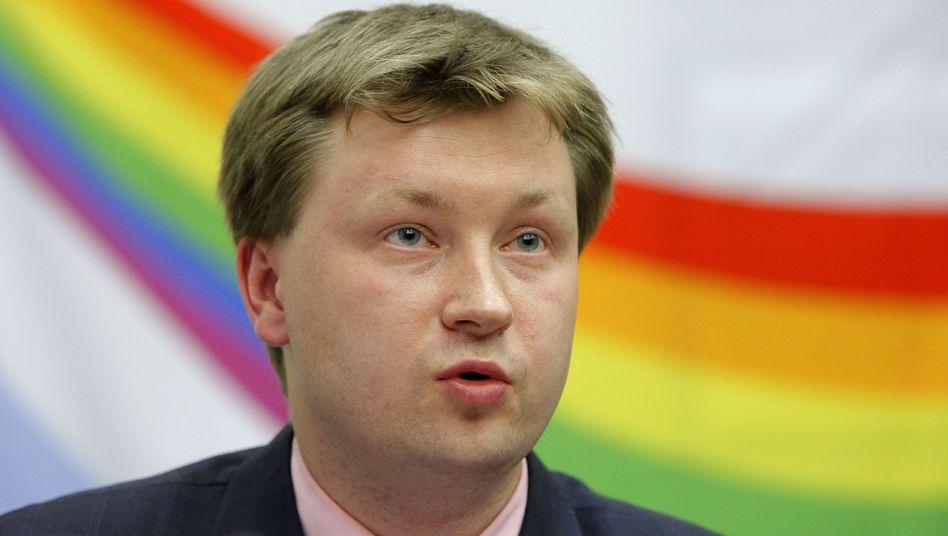 """Aktivist Alexejew (Archivbild vom Mai 2010): Verurteilt wegen """"Schwulen-Propaganda"""""""