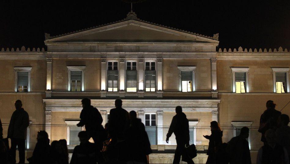 Griechisches Parlament in Athen: Die Politiker haben ihre Wähler mit keiner Silbe gewarnt