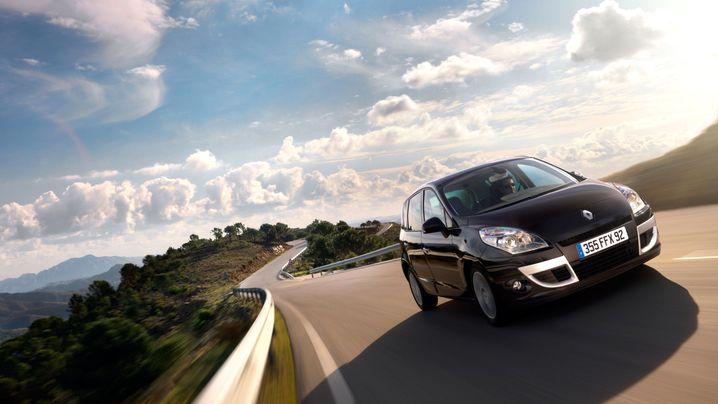 Renault Scénic: Strickjacke aus Glitzerwolle