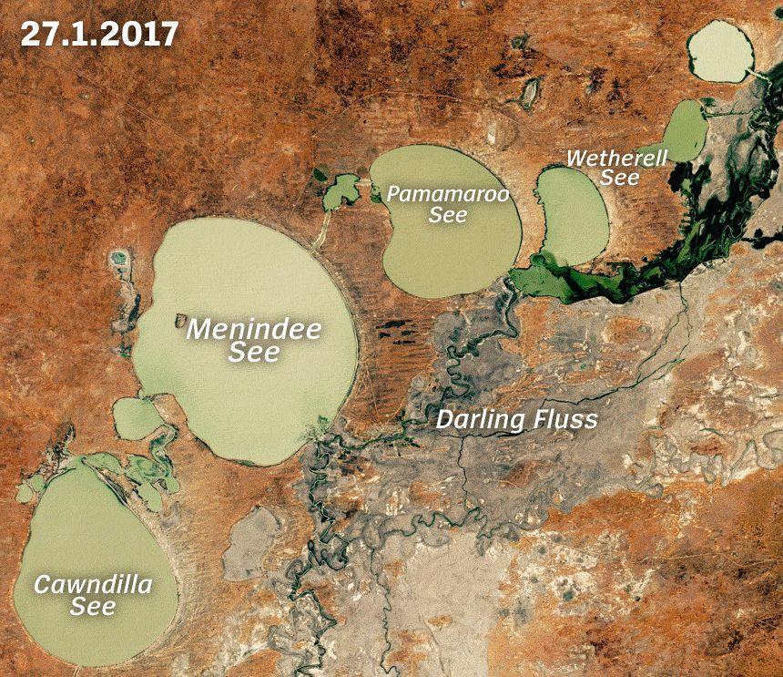 Gif Australiens Seen verschwinden Sat Bild der Woche