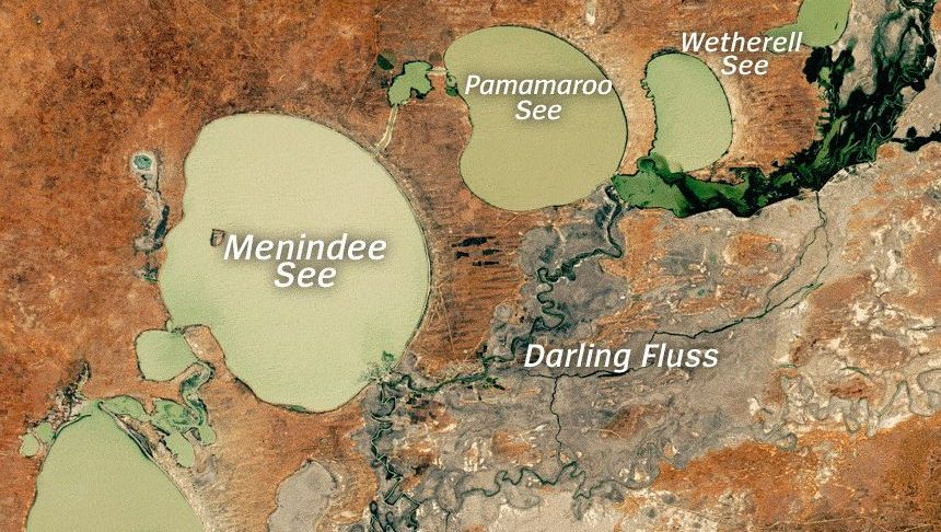 Menindee-Seen in New South Wales (Australien)