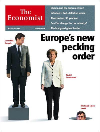 """""""Economist""""-Titel mit Sarkozy, Merkel, Brown (Anfang Mai): Alte Gewissheiten über den Haufen geworfen"""