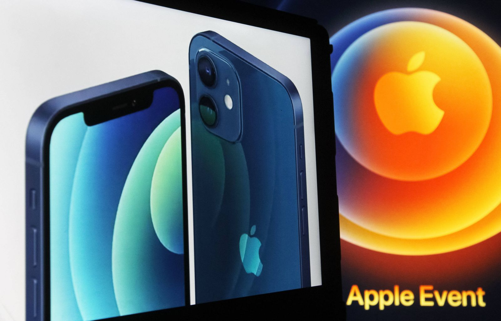 October 13, 2020, Ukraine: In this photo illustration the new iPhone12 is seen displayed on an iPad screen. Ukraine - ZU