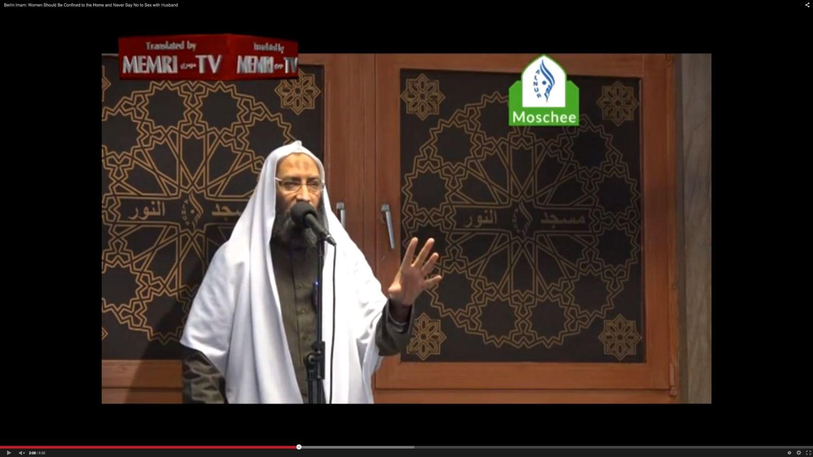 NUR ALS ZITAT Screenshot youtube / Abdel Moez al-Eila