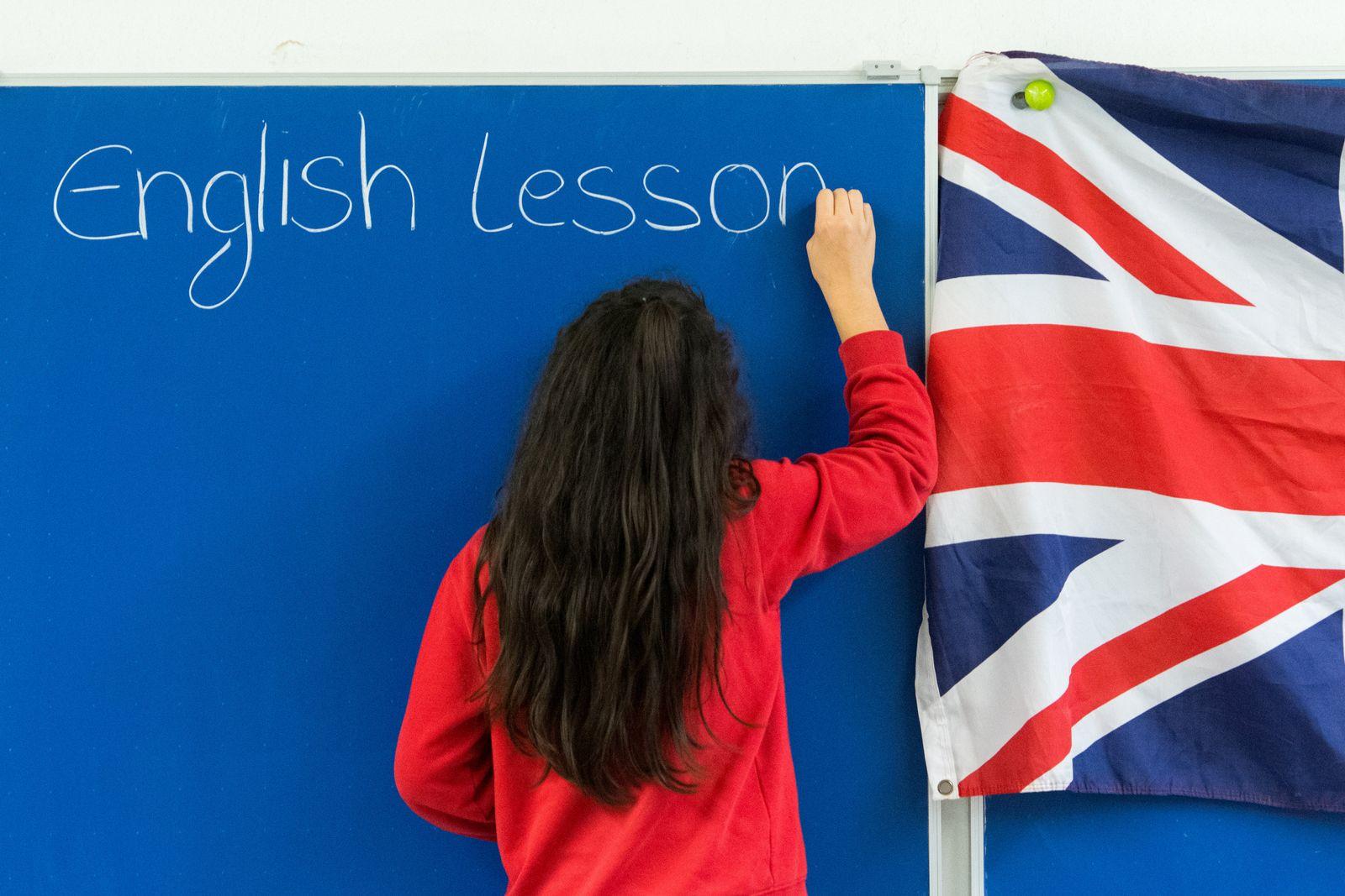 Schülerin Englischunterricht am Gymnasium