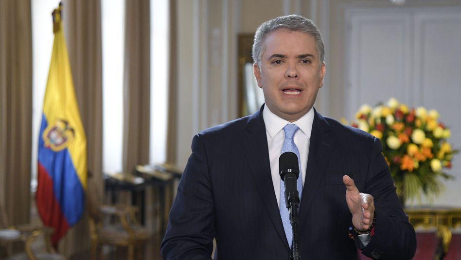 Präsident Iván Duque hält den Friedensvertrag mit der Farc für zu nachsichtig gegenüber ehemaligen Mitgliedern