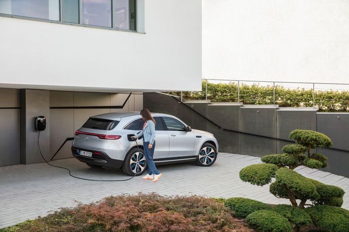 Aufladen beim Mercedes EQC