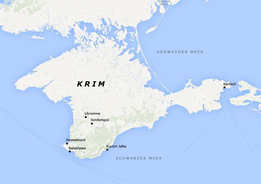Karte Krim