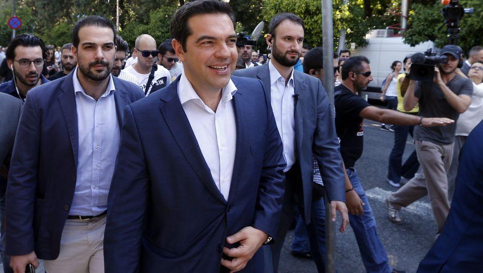 Premierminister Tsipras: Personell abgerüstet