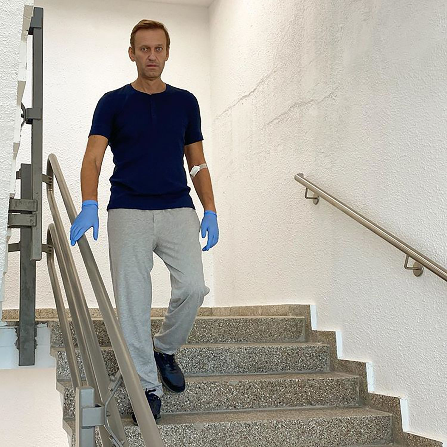 Russian opposition leader Navalny discharged from Charite hospital in Berlin, Germany - 19 Sep 2020