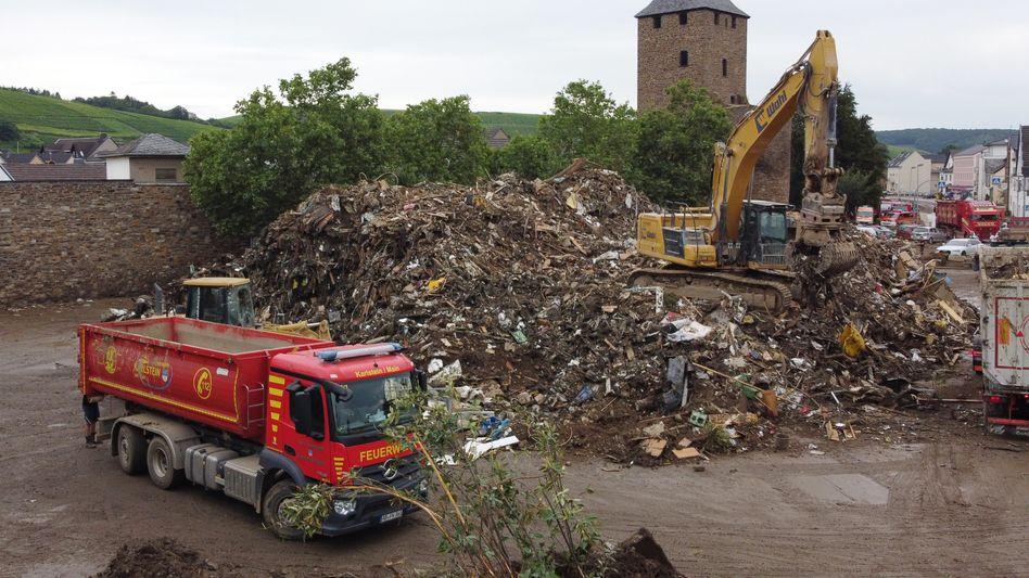 Ahrweiler nach der Flut: Das Hochwasser hat zahlreiche Häuser der Ortschaft unbewohnbar gemacht