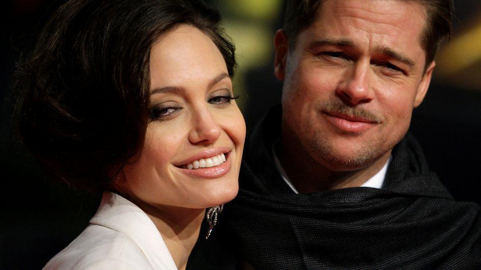 Angelina Jolie und Brad Pitt – noch als Paar – im Jahr 2009