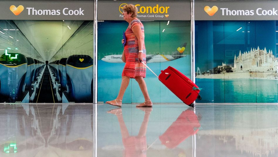 Geschlossene Thomas-Cook-Büros am Flughafen von Palma de Mallorca