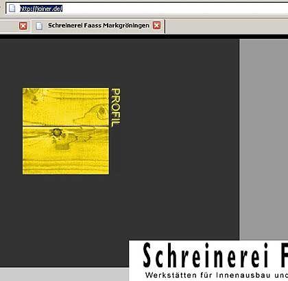Joiner.de: Internetpräsenz einer Schreinerei