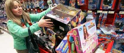 Shopperin in Chicago: Freiwillige Marken-Flüsterei