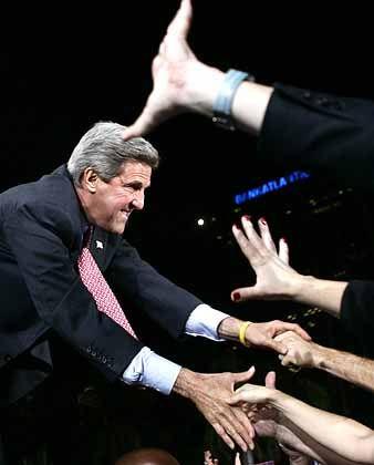 Kerry im Wahlkampf: Die Unentschiedenen laufen zu ihm über