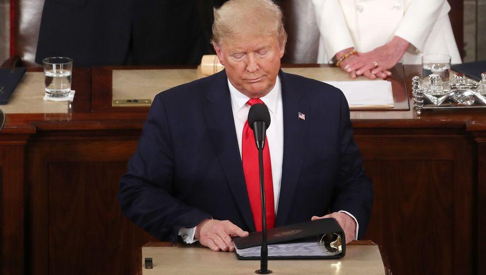 """Donald Trump bei seiner dritten Rede zur Lage der Nation: """"Das großartige amerikanische Comeback""""?"""
