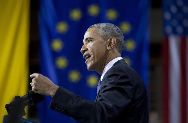 Obama bei seiner Rede auf der Hannover Messe