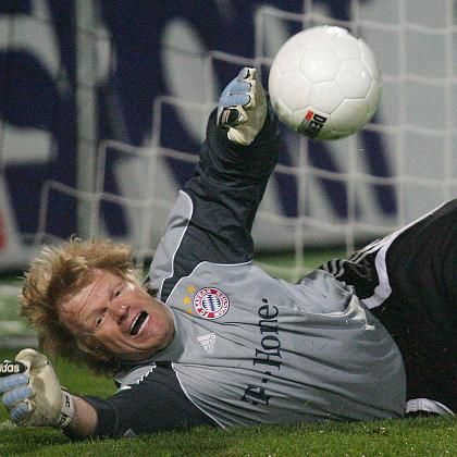 Kahn think he must be a bit mad to want to fling himself in front of strikers and allow people to kick balls at him.