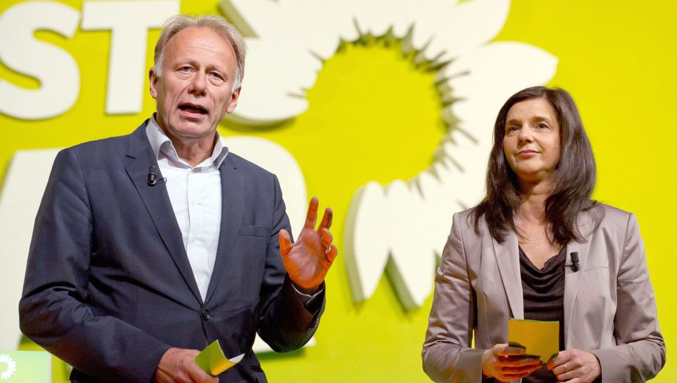 """Grünen-Spitzenkandidaten Jürgen Trittin und Katrin Göring-Eckardt: """"Umwelt, Frauen und Frieden"""""""