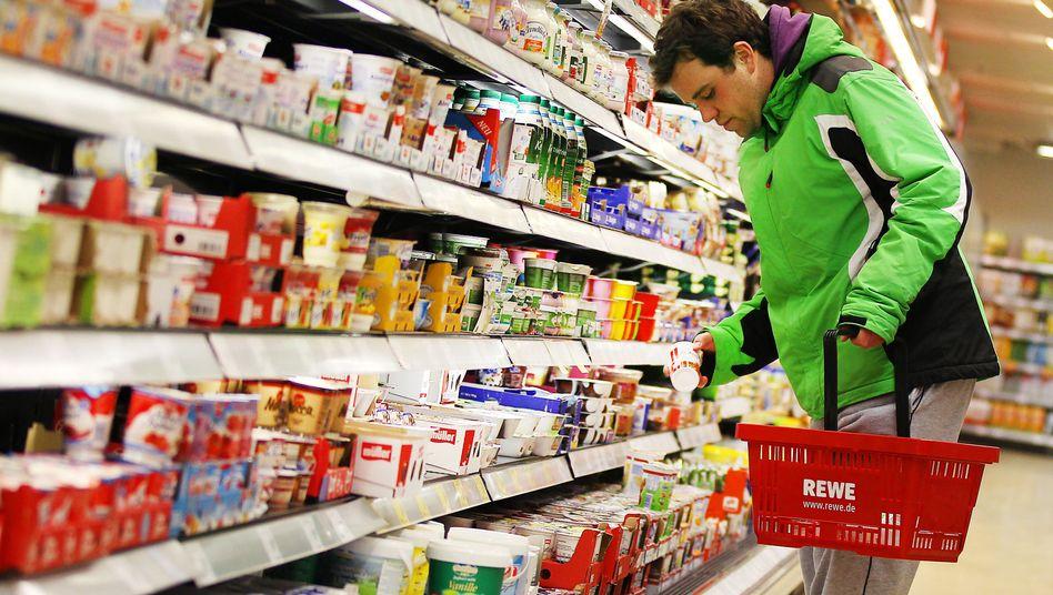Einkauf im Rewe-Supermarkt: Veränderte Essgewohnheiten