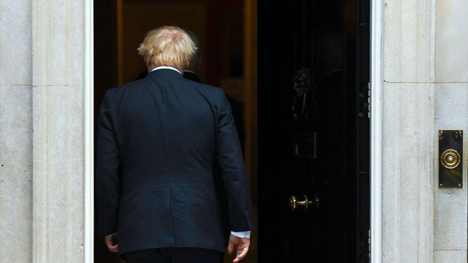 Boris Johnson beim Rückzug