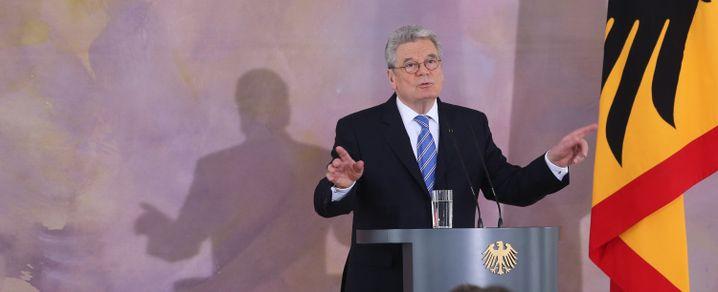 Joachim Gauck am 22.02.2013 im Schloss Bellevue