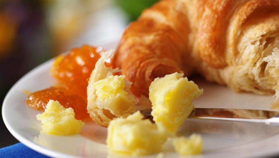Appetitliche Croissants: Viele Backwaren enthalten hohe Mengen künstlicher Transfette