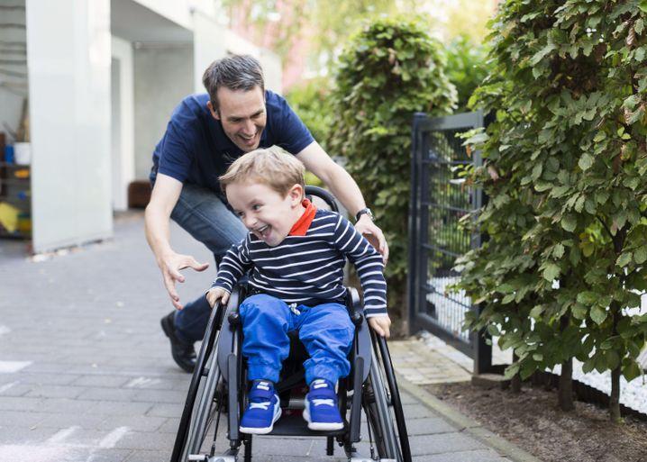 Moritz mit seinem Vater