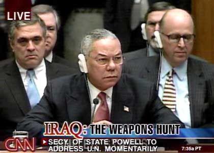 """CNN-Berichterstattung (US-Außenminister Powell bei der Vorlage der Beweise für Massenvernichtungswaffen im Irak vor dem Uno-Sicherheitsrat): """"Der Demokratie keinen Gefallen getan"""""""