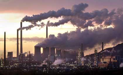 Kraftwerk: Emission von Treibhausgasen heizt Klimawandel an