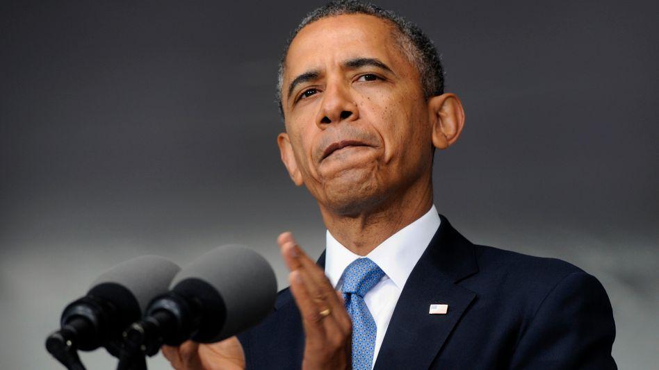 US-Präsident Obama im Mai an der US-Militärakademie: Der Irak zwingt zum Handeln