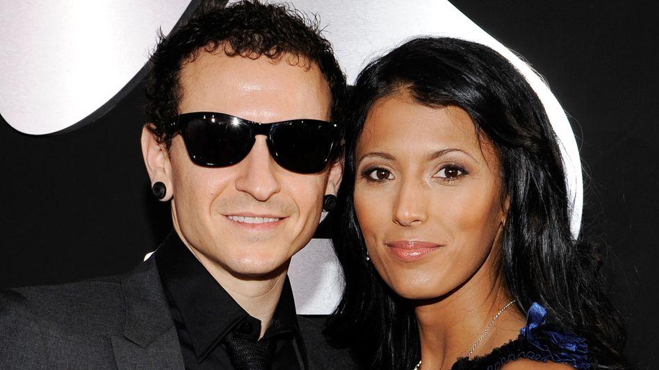 Chester Bennington mit seiner Frau Talinda im Jahr 2010