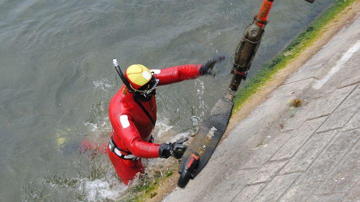 Fotostrecke: Roller-Fischen in der Seine