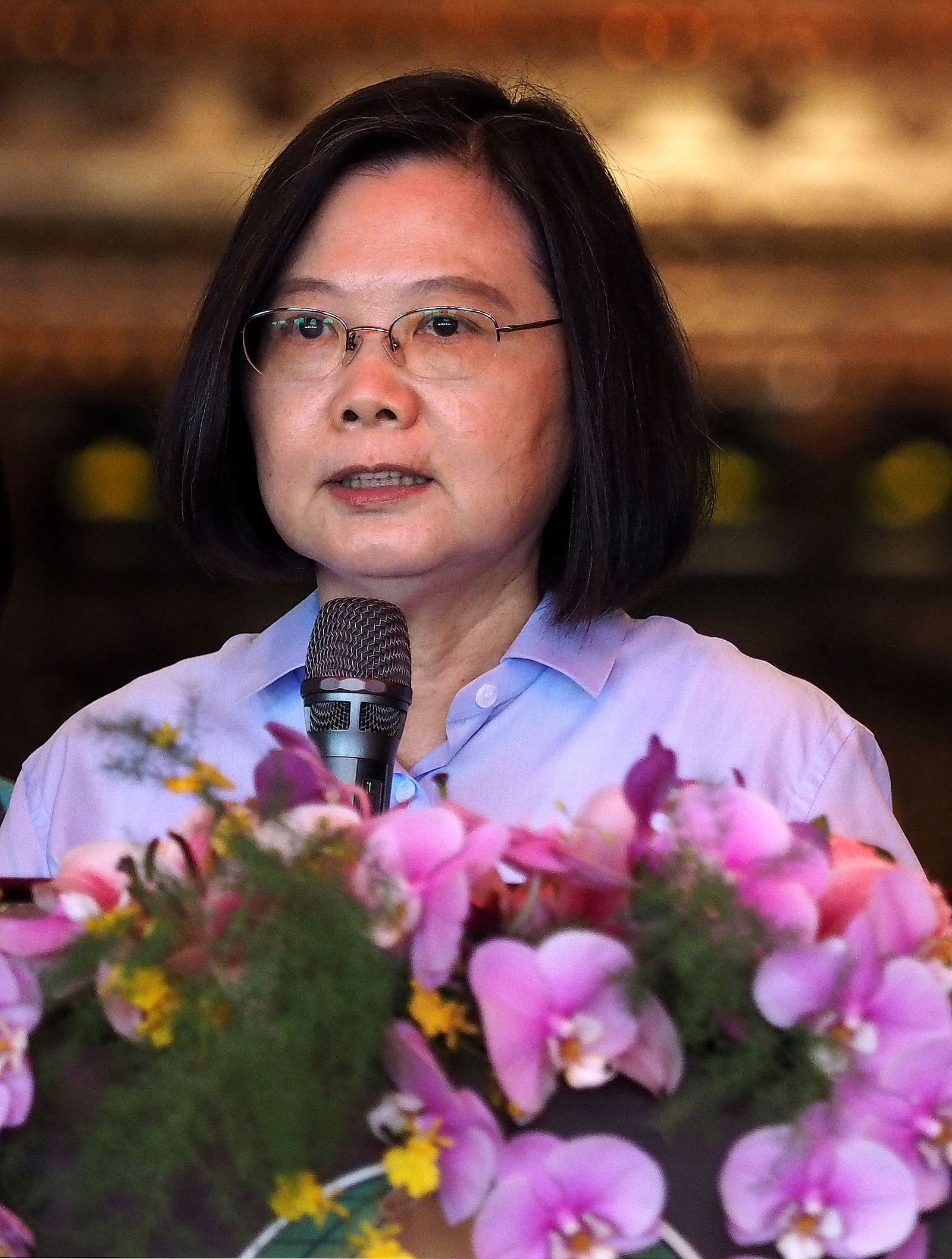 Taiwan persident calls China's drills 'a threat to the whole region', Taipei - 08 Jul 2020