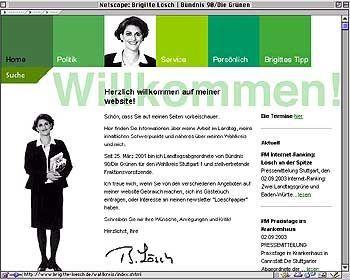 Beste Homepage der Landespolitiker: www.brigitte-loesch.de