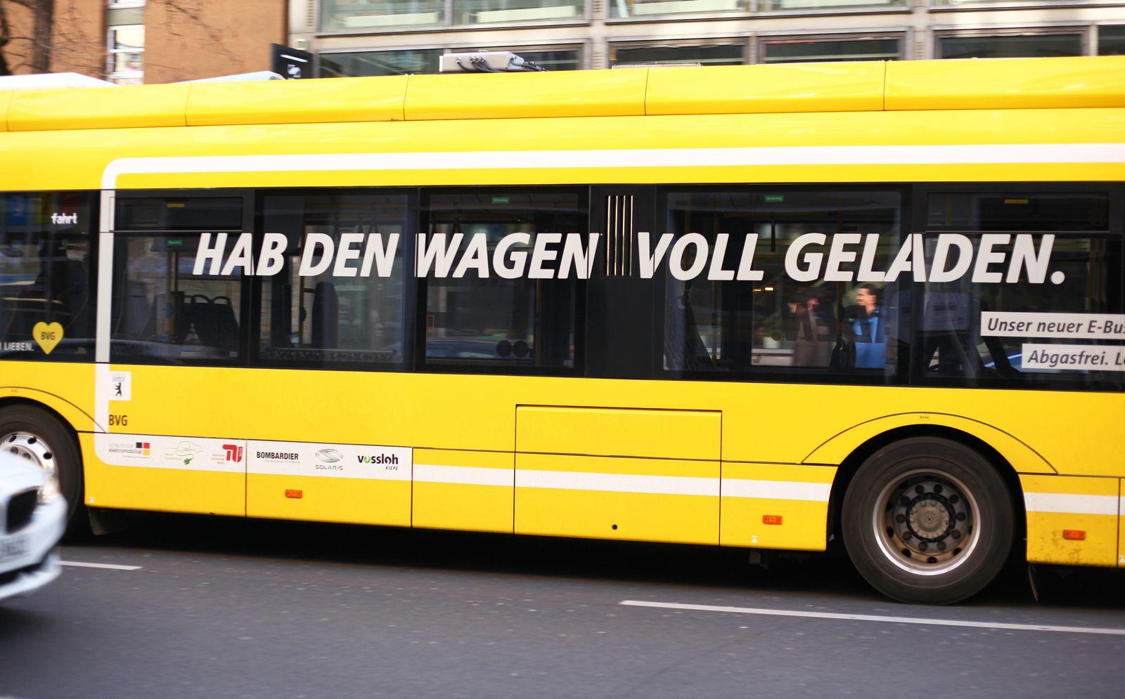 EINMALIGE VERWENDUNG Elektrobus/ BVG