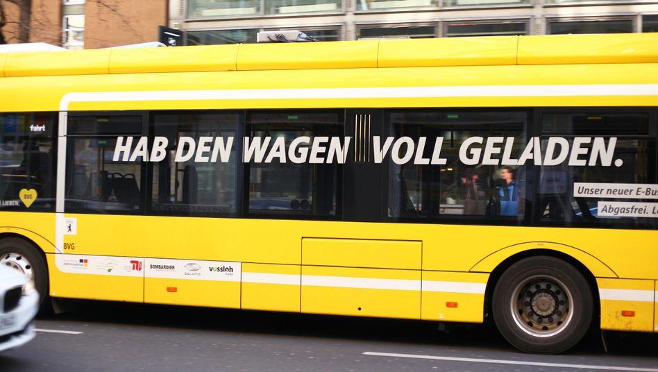 E-Bus der BVG im Einsatz