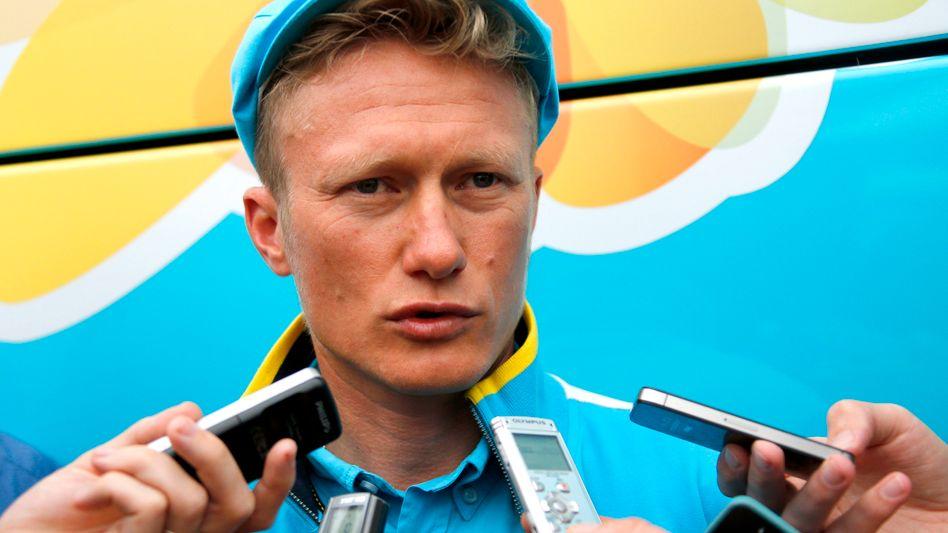 Winokurow im Gespräch mit Journalisten (Archivfoto)