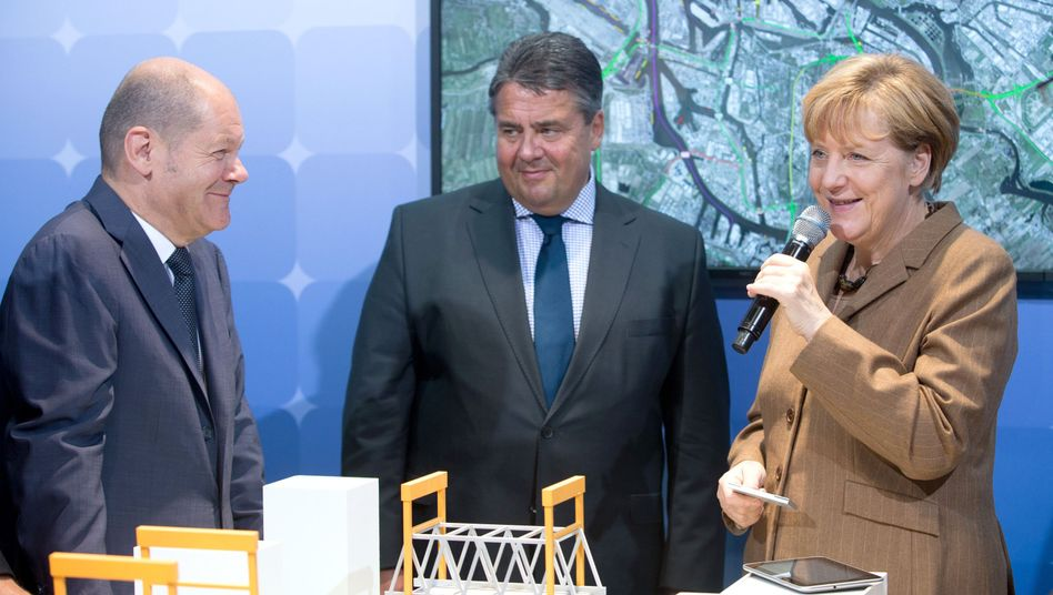 Olaf Scholz, Sigmar Gabriel, Angela Merkel