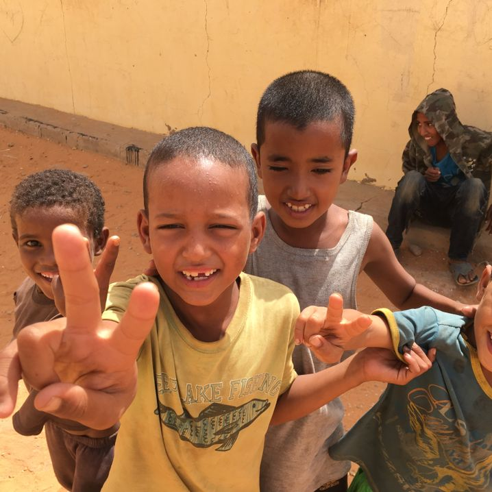 "Tuareg refugee children: ""Azawad, Azawad."""