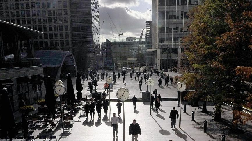 Finanzdistrikt Canary Wharf in London