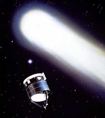 Komet Halley (mit Raumsonde Giotto): Fehlkalkulationen hätten verheerende Folgen