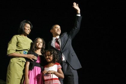 """Obama mit Familie: """"Zu verkopft zu sein ist schon lange ein Problem für demokratische Kandidaten"""""""