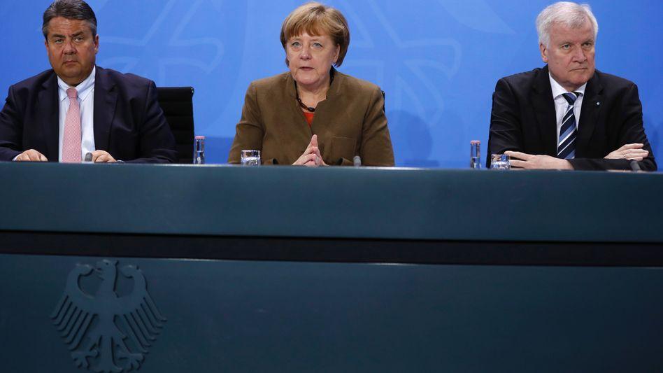 Kanzlerin Merkel, CSU-Chef Seehofer