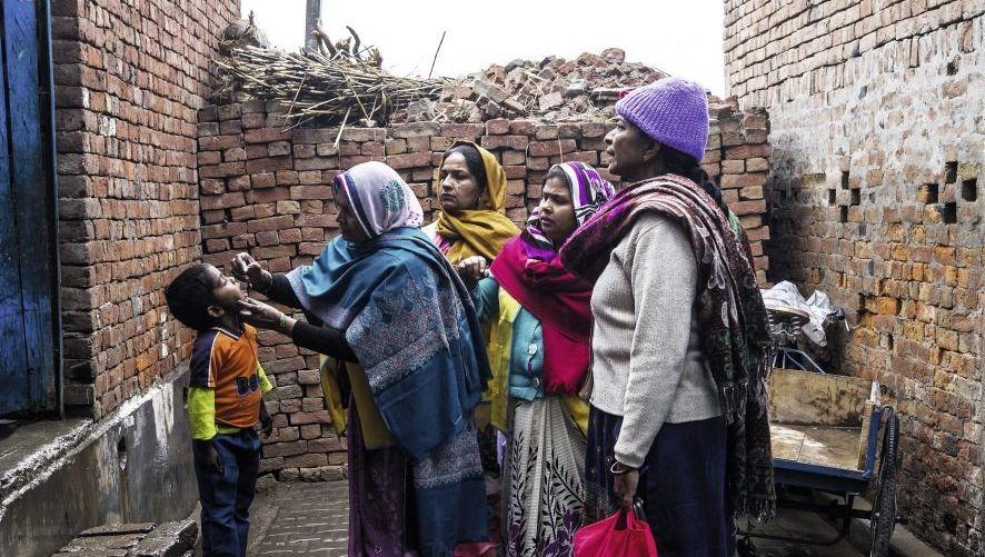 Schluckimpfung im Bundesstaat Uttar Pradesh, Indien