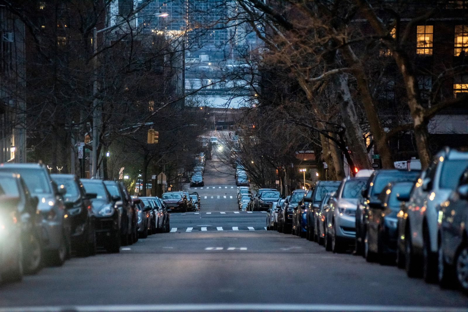 A deserted street in Brooklyn, March 30, 2020. (Johnny Milano/The New York Times)